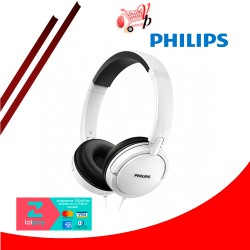 AUDIFONO PHILIPS BASS+ CON MICROFONO SHL5005 BLANCO